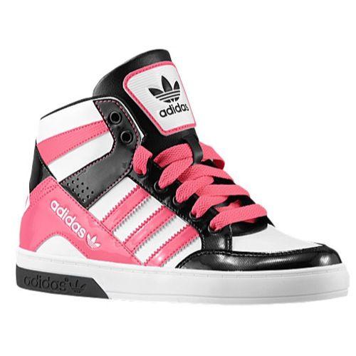 Adidas Shoes on Sale, Girls\u0027 Grade School - adidas Originals Hard Court Hi  3 Girls\u0027 Grade School Basketball Shoes White/Bahia Pink/Black