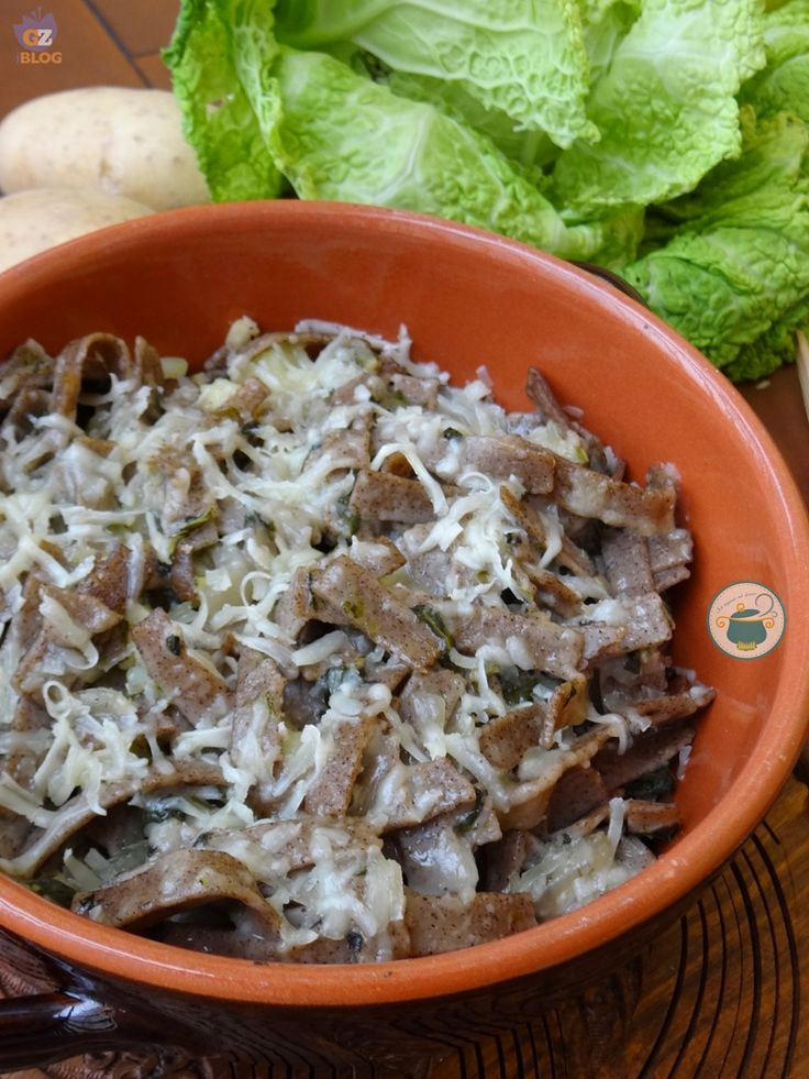 Pizzoccheri alla valtellinese - (si può sostituire il bitto con la fontina)