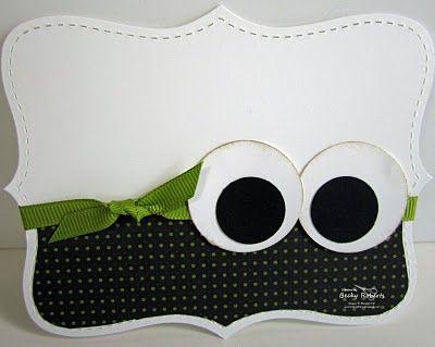 :)Halloween Projects, Cards Ideas, Halloween Eye, Halloween Cards, Googly Eye, Fun Halloween, Adorable Halloween, Note Cards, Happy Halloween