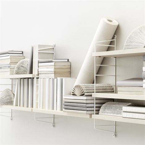 String shelf Pocket ash-white - ash-white - String
