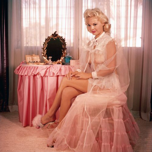 So much pink! dottiesdelights:  Yep, there can never be enough vintage pink in my world. vintagegal:  Lisa Winters Miss December 1956 Playbo...
