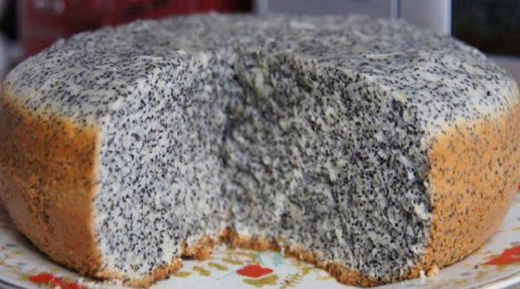 Вкуснейший пирог маковник. Очень вкусный и полезный десерт, а готовится просто и быстро!