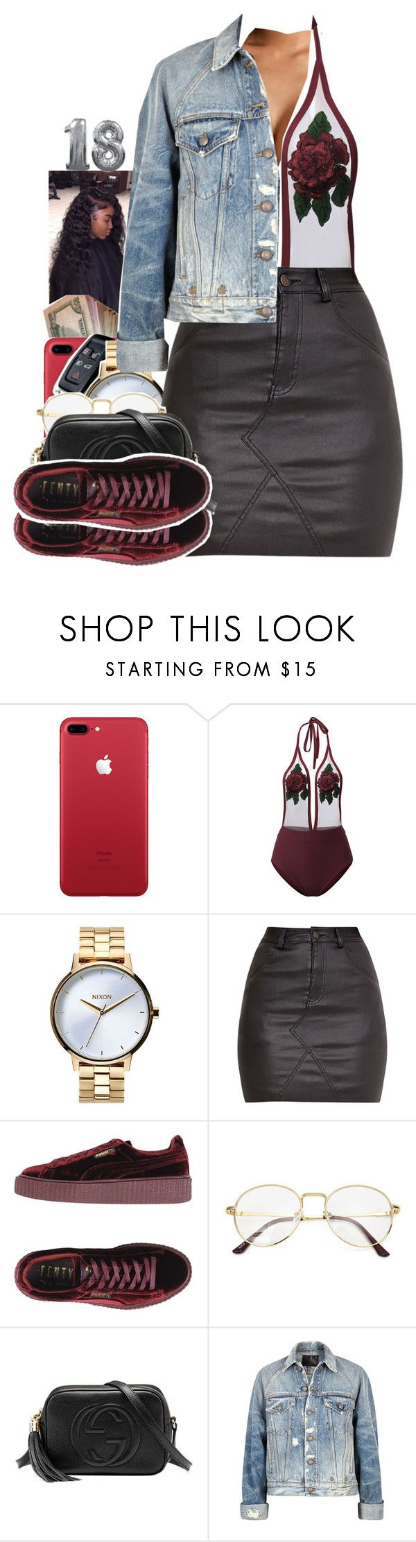 """""""18th birthday set for @selfmadee"""" by txoni ❤ liked on Polyvore featuring Nixon, Puma, Gucci and R13"""