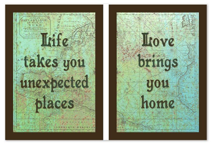Life & Love Quote-Diptych