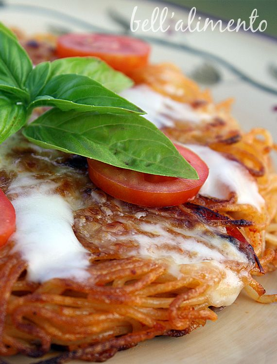 fried spaghetti... a friend of mine said his mom used to make this for him and I always wanted to try it...