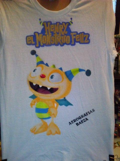 Camiseta aergrafiada por aerografias baeza.