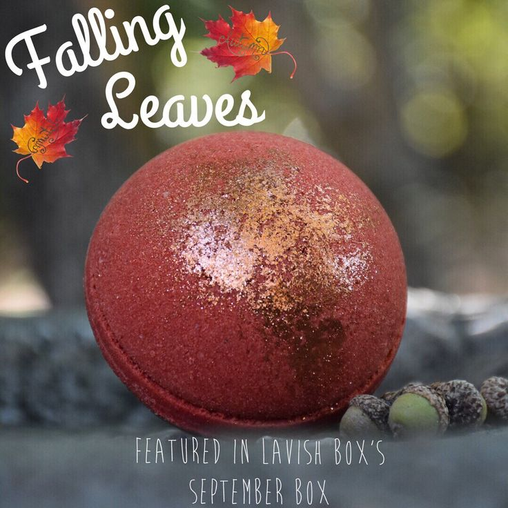"""We have 4 """"Falling Leaves"""" bath bombs for sale! These bath bombs were featured in the Lavish Bath Box this month with the theme """"Sweater Weather"""". Make sure to grab one, as they are limited edition"""