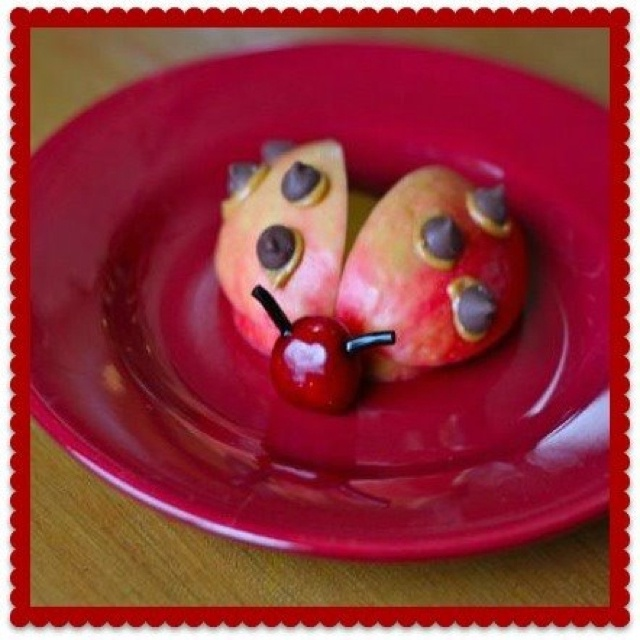 Ladybug snack or party treat for Violet's ladybug party