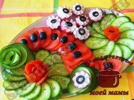 Decoration-dishes --- sliced-out-vegetables