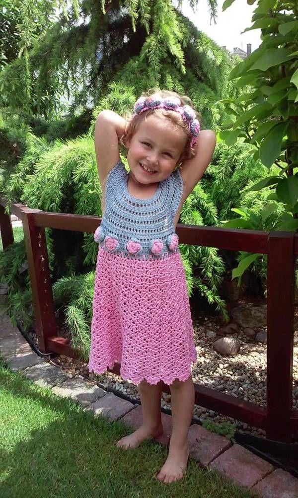 Detské oblečenie - Háčkované šaty