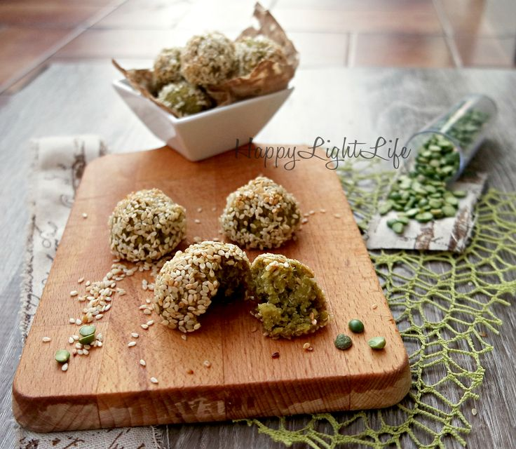 Ricetta Light: Polpette quinoa, piselli e sesamo