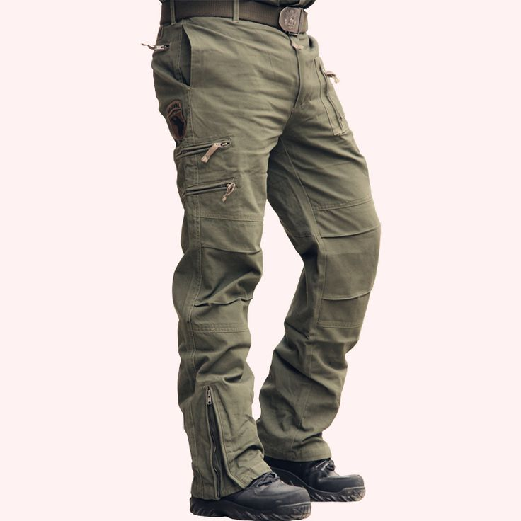 Airborne jeans casual training plus size cotton breathable multi pocket military army camouflage cargo pants for men | worth buying on AliExpress