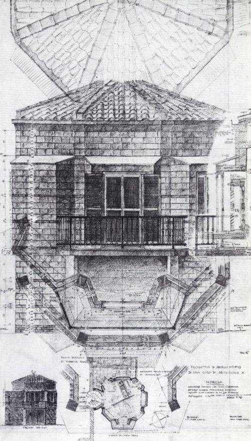 Mario Ridolfi - Casa Lina a Marmore - Terni - 1966