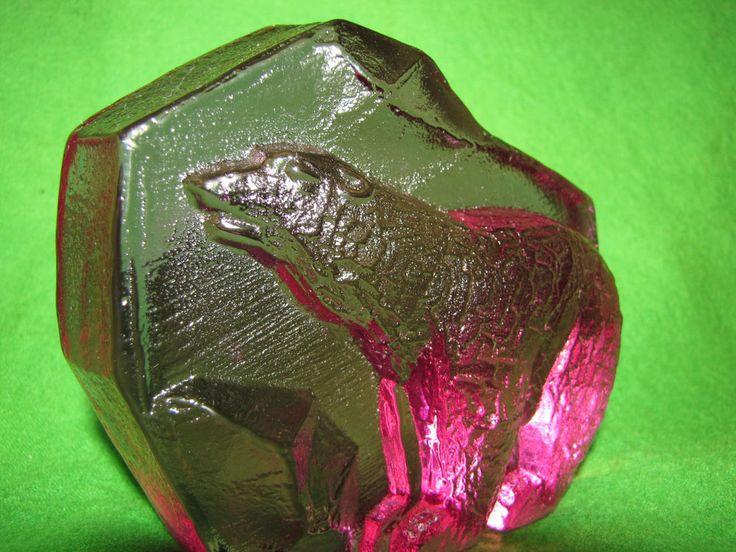 #Sweden #Kosta purple #glass #Polar #Bear #figurine #Sculpture very rare  #KostaBoda Mats #Jonasson #Pukeberg #Orrefors