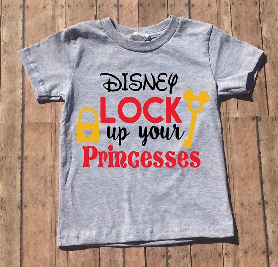Disney Lock up your Princesses Shirt | Mickey Mouse |Baby Boy | Toddler Boy | Disney Shirt | Youth Shirt | Child Shirt