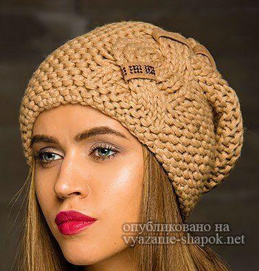 Шапки спицами — лучшие модели со схемами вязания и ...