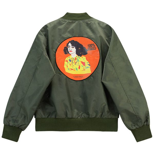 Chicnova Fashion Retro Bomber Jacket ($24) ❤ liked on Polyvore featuring outerwear, jackets, shiny jacket, flight jacket, woven jacket, embroidered bomber jacket and retro jackets
