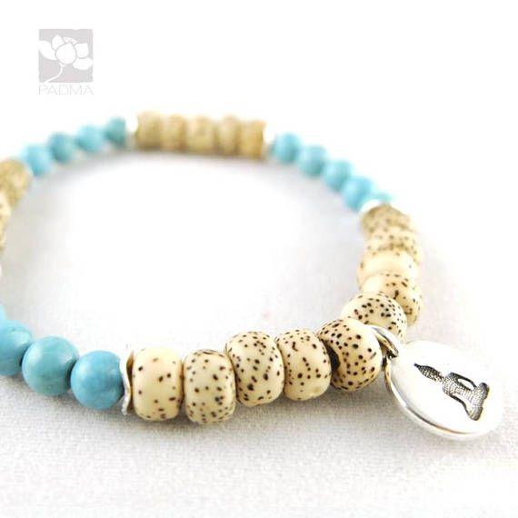White lotus Bodhi Seeds / Buddha Charm / Prayer beads