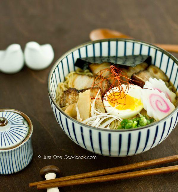 Spicy Shoyu Ramen Recipe | Easy Japanese Recipes at JustOneCookbook.com - definitely the best ramen broth recipe we've tried yet!