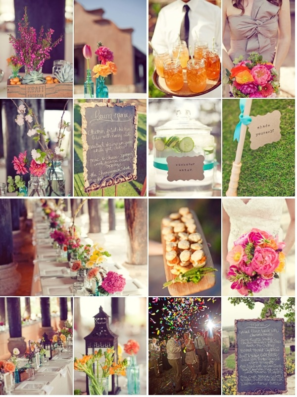 """If Chris & I get """"re-married"""" I'd go white with Colour, colour, colour!!! Outdoor wedding ideas"""
