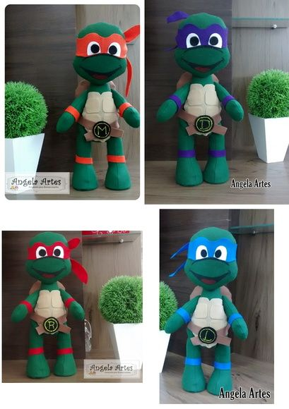 Tartarugas Ninja 40cm de altura                                                                                                                                                                                 Mais