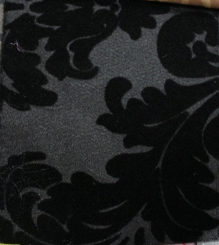 Black Taffeta Fabric Damask Fabric By The Yard Sewing Equipment Flocked Fabric…