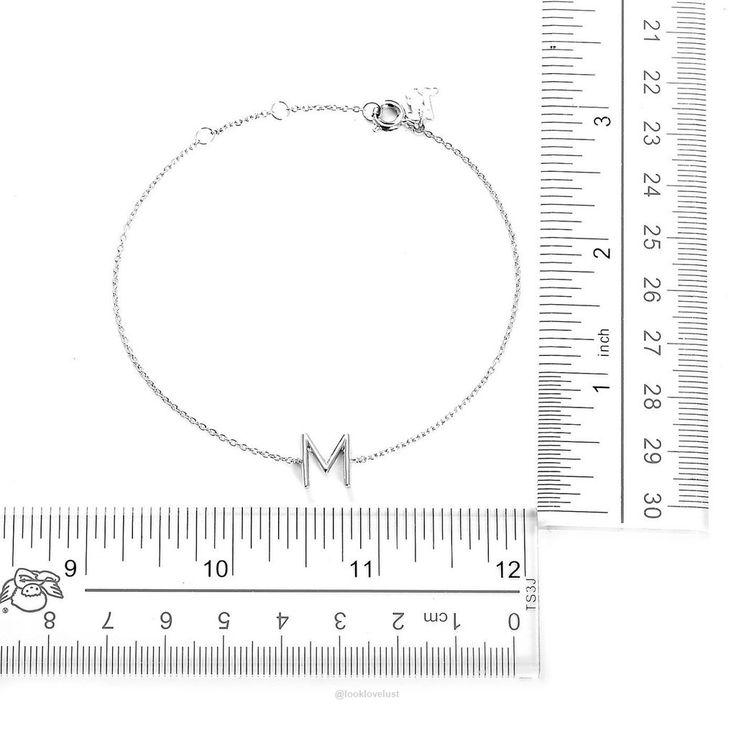 Your initial M Bracelet-Women - Jewelry - Bracelets-Look Love Lust