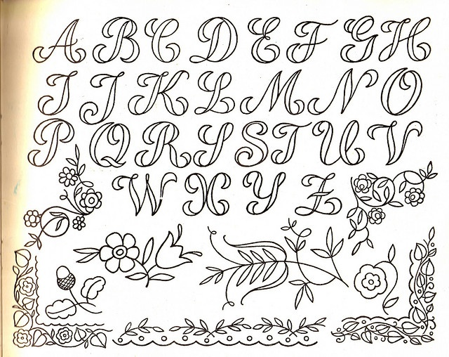alphabet: Calligraphy Alphabet Tutorials, Letters Embroidery Patterns, Cursive Letters, Cursive Alphabet, Embroidery Letters, Embroidery Alphabet, Cursive Crosses Stitches Fonts, Handlett Alphabet Fonts Art, Embroidery Transfer Patterns