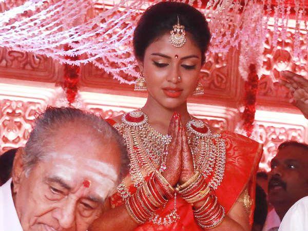 Amala Paul on her wedding day