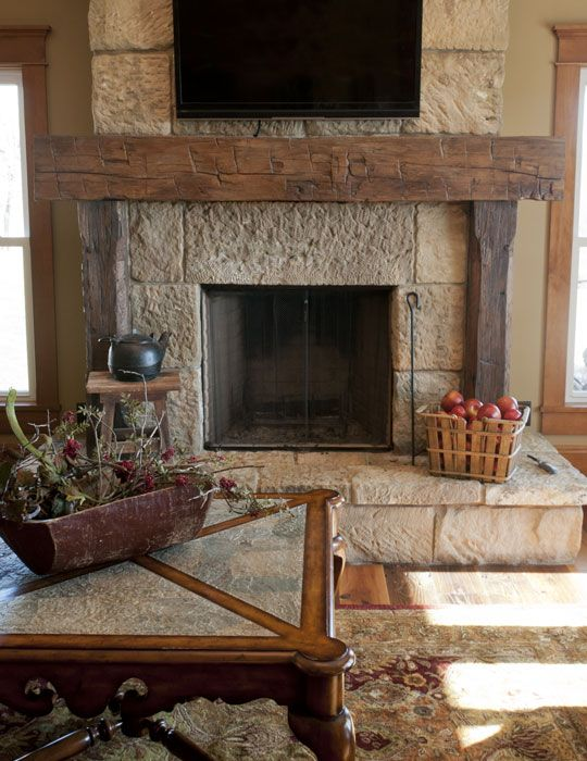 Best 25 Rustic Fireplace Mantels Ideas On Pinterest