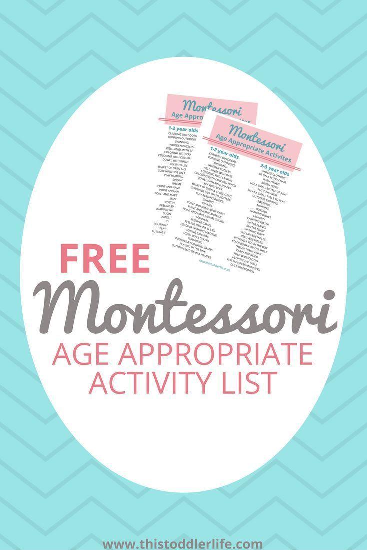 Montessori Basics   Age Appropriate Activity List  