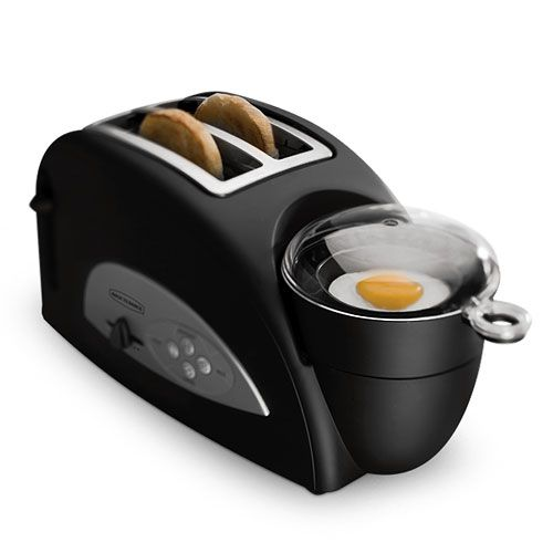 Two Slice Toaster And Egg Poacher  I have this ! works great - grandkids love visiting to have breakfast sandwiches _LV