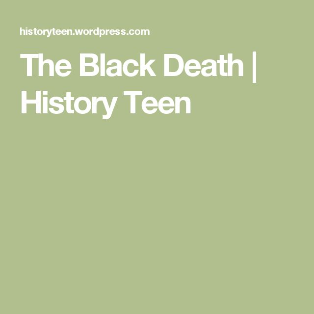 The Black Death | History Teen