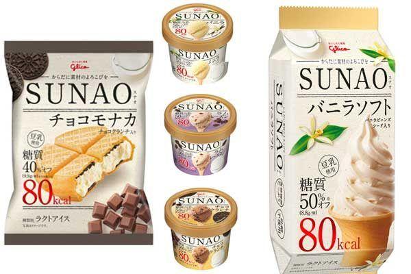 【カラダにやさしいアイス】グリコの新ブランド「SUNAO」からバニラやラムレーズンなど5種が新発売 2/20発売です! #グリコ #アイス #SUNAO