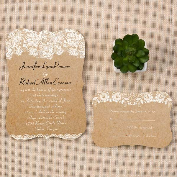 95 best Fancy Shapes Wedding Invitations images on Pinterest