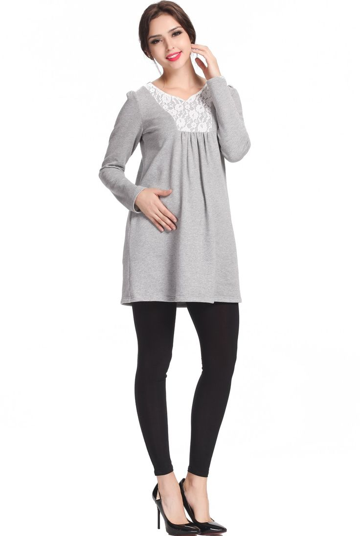 40 best ropa images on pinterest maternity styles maternity momo maternity tasha lace trimmed sweatshirt tunic check out this great style for 44 on luxury lane click on the image above to get a coupon code for ombrellifo Image collections