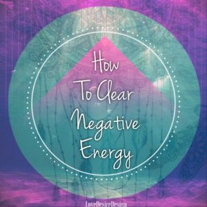 How To Clear Negative Energy. When we feel, stuck, stagnant, unmotivated & unable to move forward in our lives in a particular area it is a sure indicator that we need to clear out some negative energy.  Personally I am a very strong believer in clearing out any old stuck negative energies, to make room for the new positive flow of energy to usher into my life. Every time I clear this old energy, something new & amazing always comes into my life.