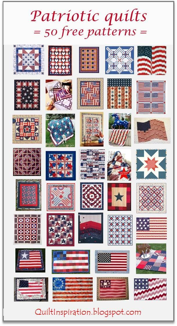 50 free patterns for Patriotic Quilts | Quilt Inspiration