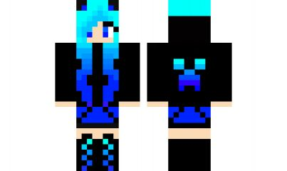 minecraft skin ombre Creeper cool!!!!