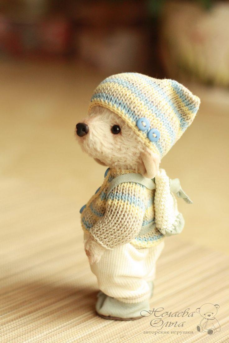 жонни - бежевый, мишка, мишка тедди, мишка ручной работы, мишки тедди