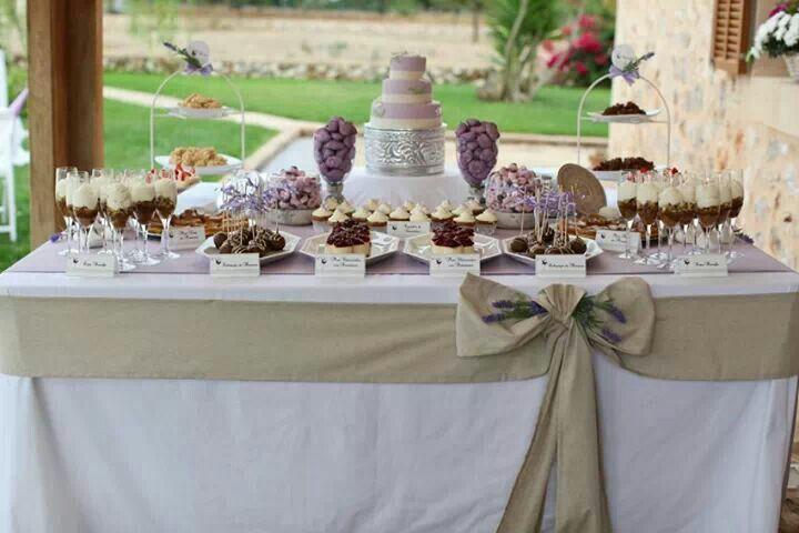 Mesa de postres boda rustica y rom ntica boda mallorca for Mesa de postres para boda