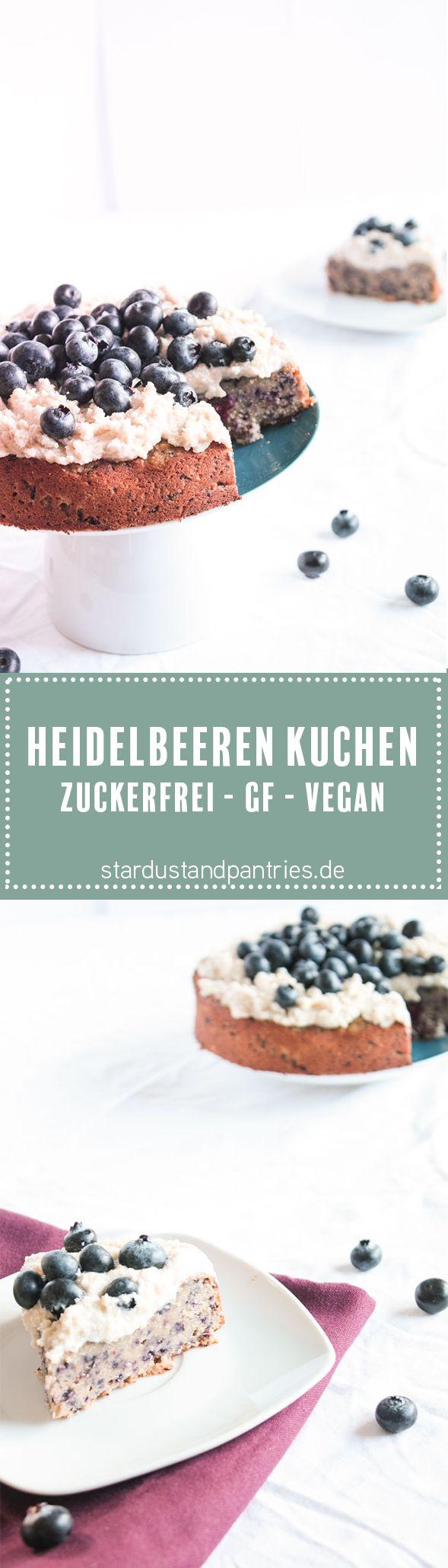Zuckerfrei backen- gesunde und leckere Alternative für Naschkatzen_ Dieser Heiderlbeeren Kuchen ist vegan, glutenfrei und zuckerfrei und trotzdem sehr lecker
