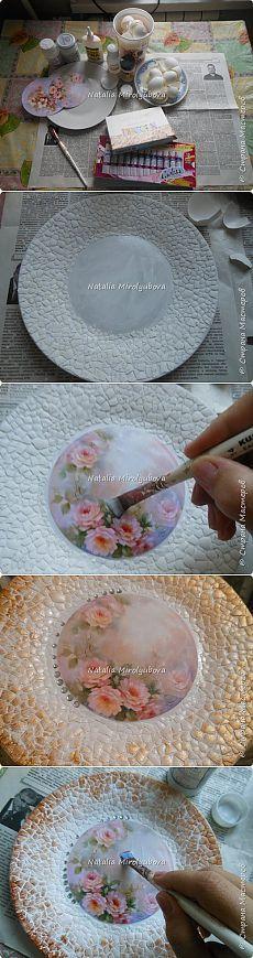 Мастер-класс тарелки (декупаж+яичная скорлупа)