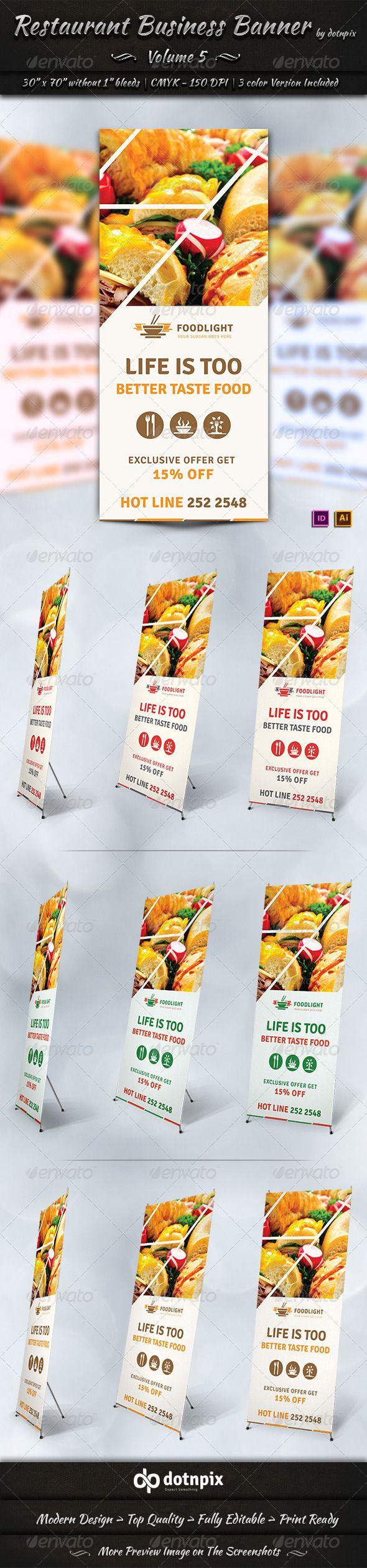 Design banner wisuda - Restaurant Business Banner Volume 5