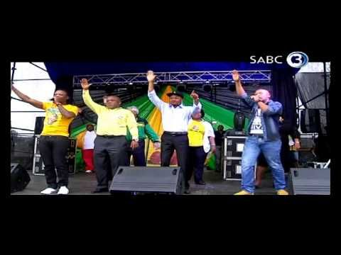 ANC supporters continue celebrating the ruling party's election victory. Police have cautioned against unruly celebrations.