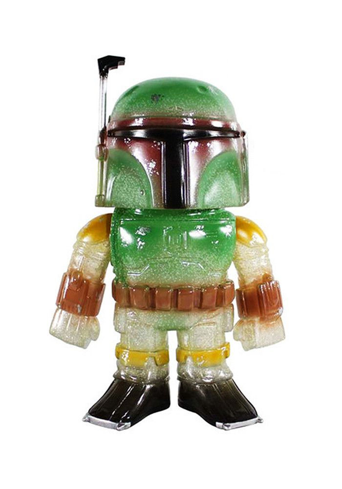 Star Wars - Hikari Sofubi: Glittered Boba Fett Figure - only 1500 numbered pieces!