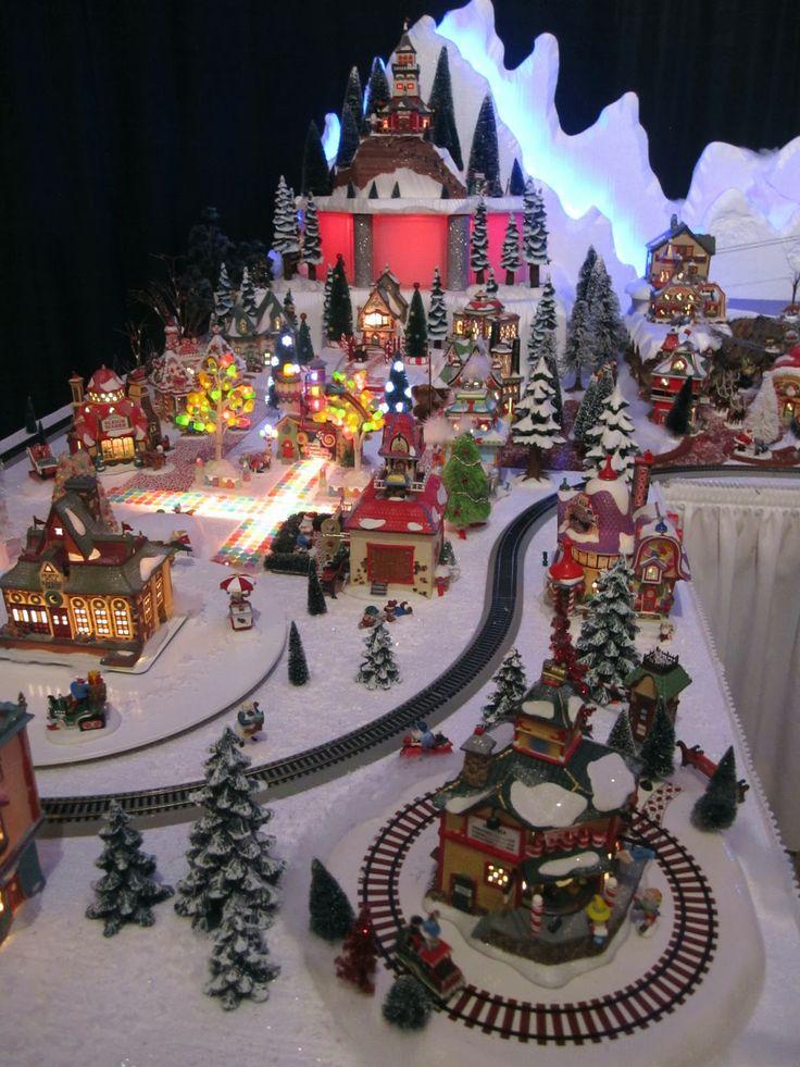 Best 20 christmas villages ideas on pinterest christmas village display christmas displays - Decor village noel miniature ...