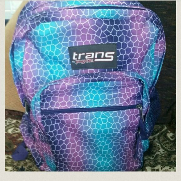 *sale*Trans Jansport multi colored backpack Trans Jansport backpack.  No rips tears or stains.  All zippers work.  No signs of wear Jansport Bags Backpacks