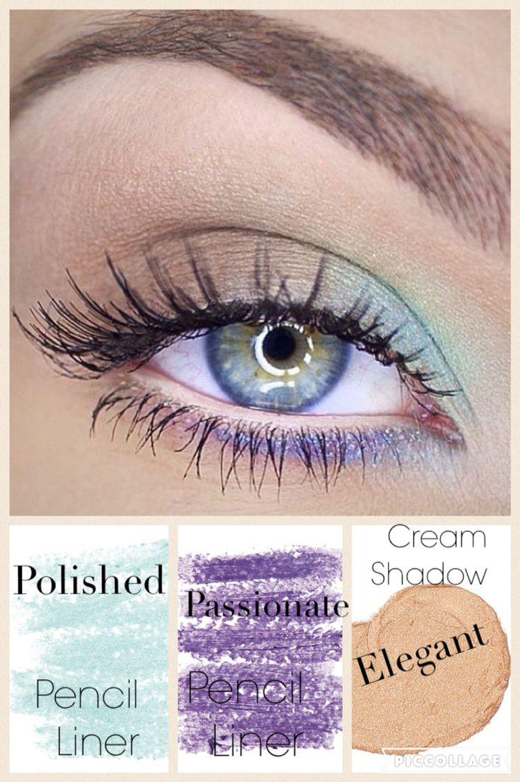 Get the look! Younique pencil liners splurge cream shadow in elegant & 3D Fiberlash mascara.