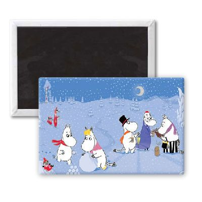 The Moomins in Snow Magnet by Tove Jansson | on StarEditions.com - Wholesale Prints and Gifts